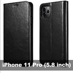 iPhone 11 Pro Wallet Case, Folio Flip MagneticPu